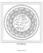Free Mandala Coloring Pages - PinkYellowRose Mandala